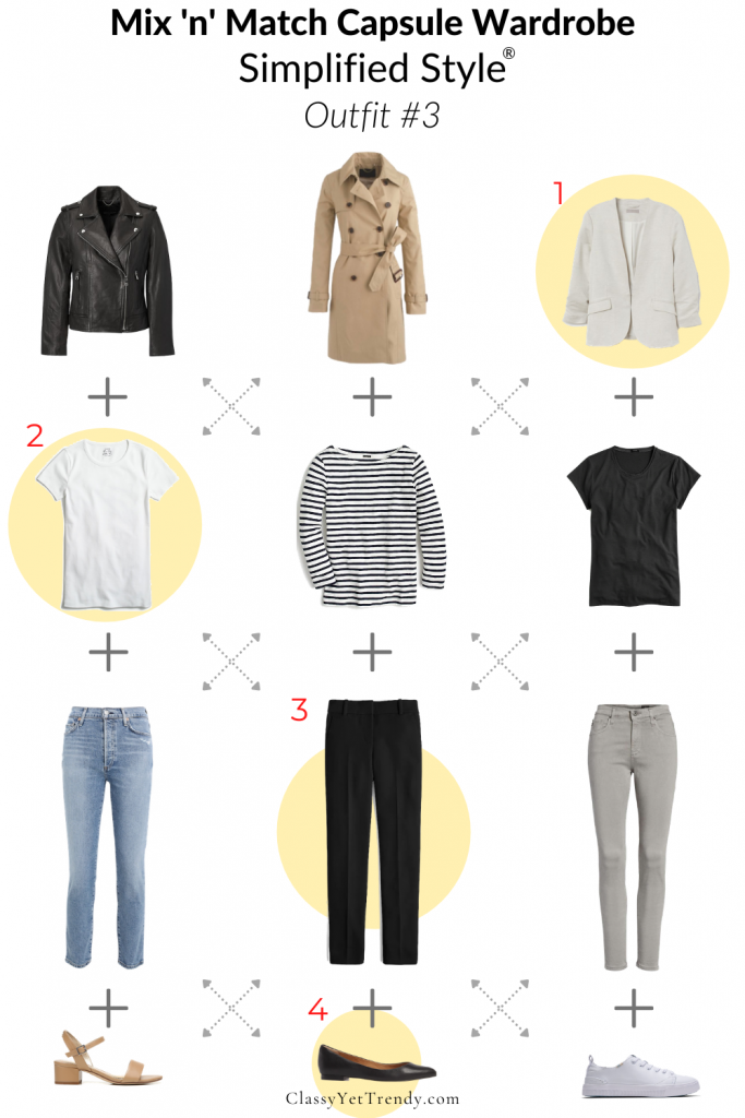 Mix n Match Simplified Style Capsule Wardrobe - Outfit 3