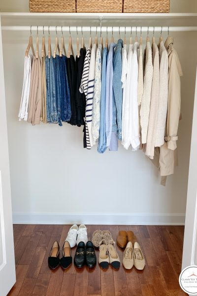 My French Minimalist Spring 2021 Capsule Wardrobe - closet