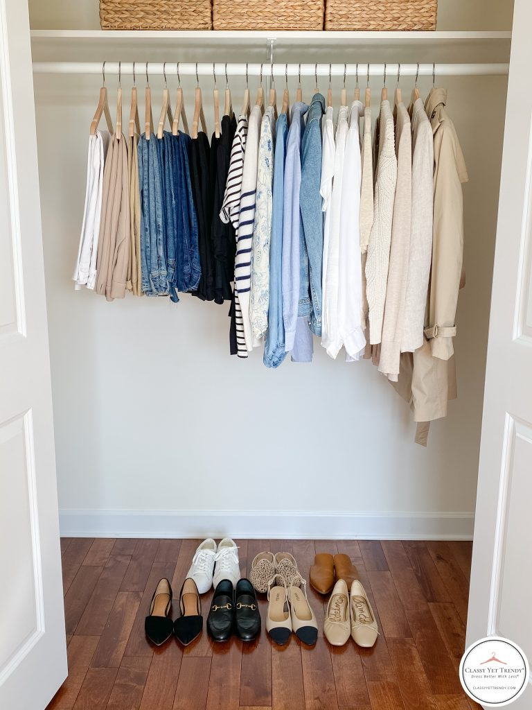 My French Minimalist Spring 2021 Capsule Wardrobe - closet