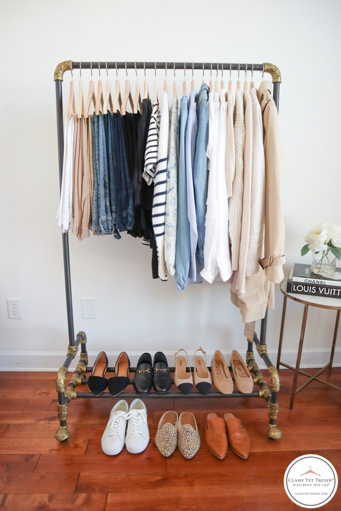 My French Minimalist Spring 2021 Capsule Wardrobe - clothes rack