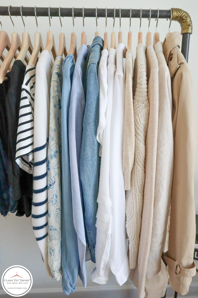 My French Minimalist Spring 2021 Capsule Wardrobe - tops and layers