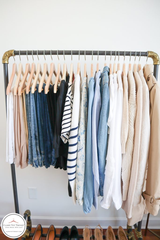 My French Minimalist Spring 2021 Capsule Wardrobe - tops layers bottoms