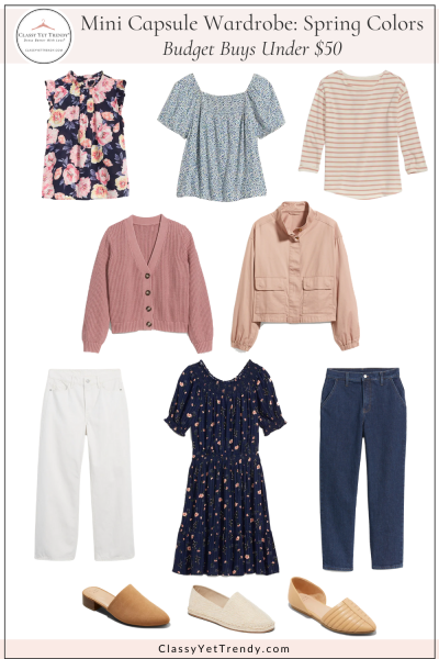 Old Navy Target Mini Capsule Wardrobe Spring Colors