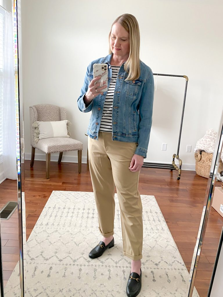 """Hampshire Ankle Pants """"fawn"""" color in the curvy fit"""