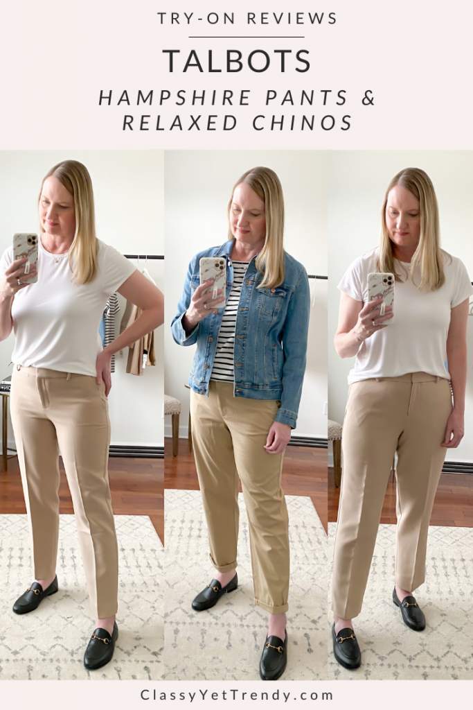 Talbots Try-On - Hampshire Pants and Relaxed Chinos