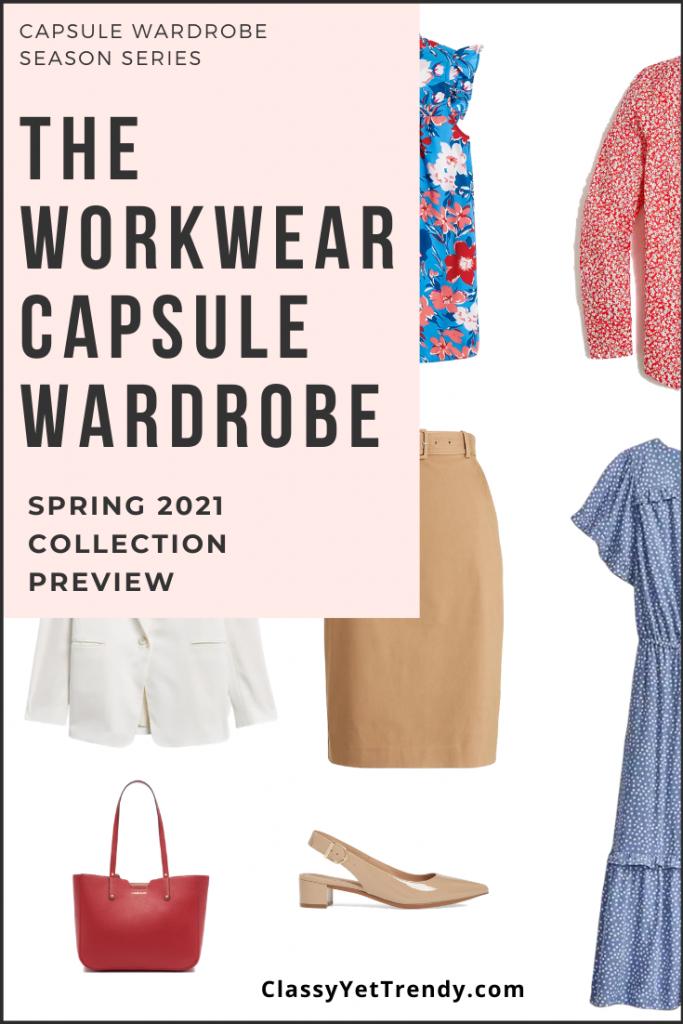 Workwear Capsule Wardrobe Spring 2021 Preview Pin1