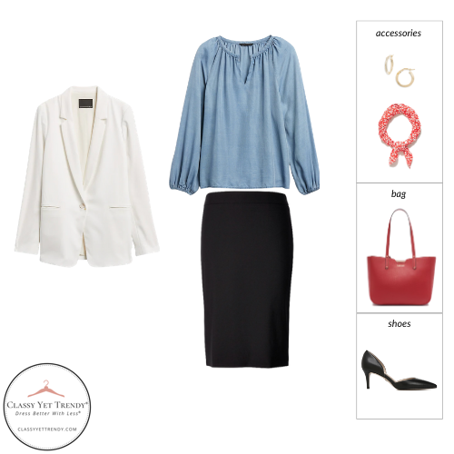 Workwear Spring 2021 Capsule Wardrobe - outfit 67