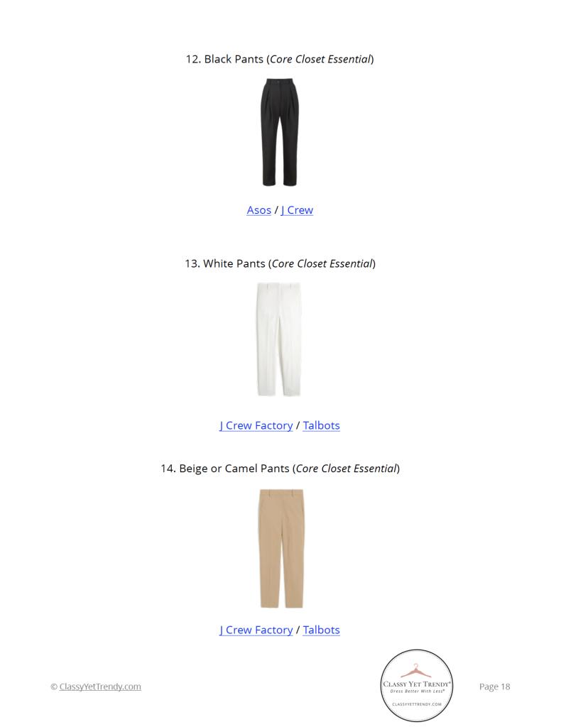 Workwear Spring 2021 Capsule Wardrobe - pg 18