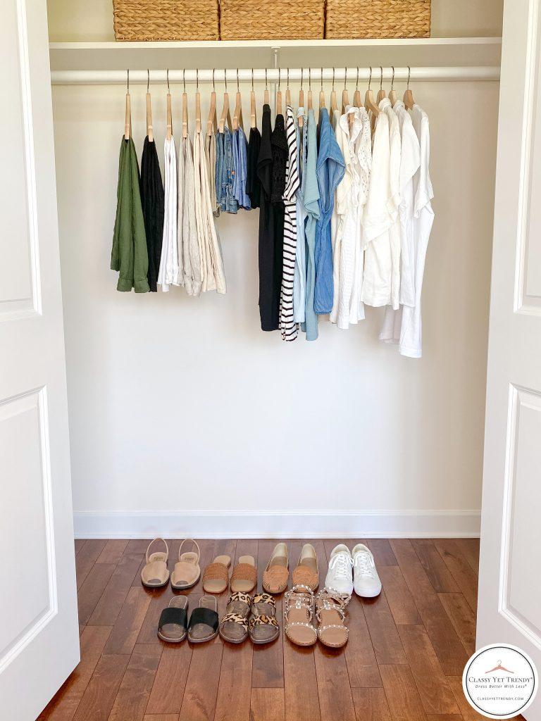 My Summer 2021 Capsule Wardrobe - closet full