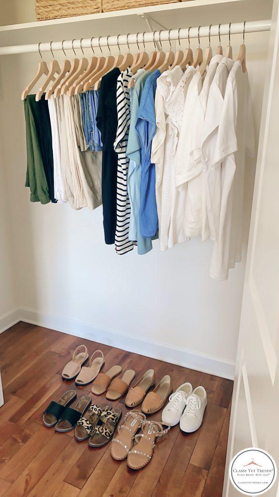 My Summer 2021 Capsule Wardrobe - closet side