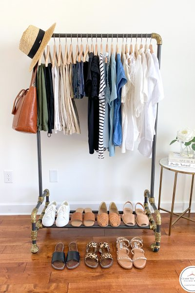 My Summer 2021 Capsule Wardrobe - clothes rack full
