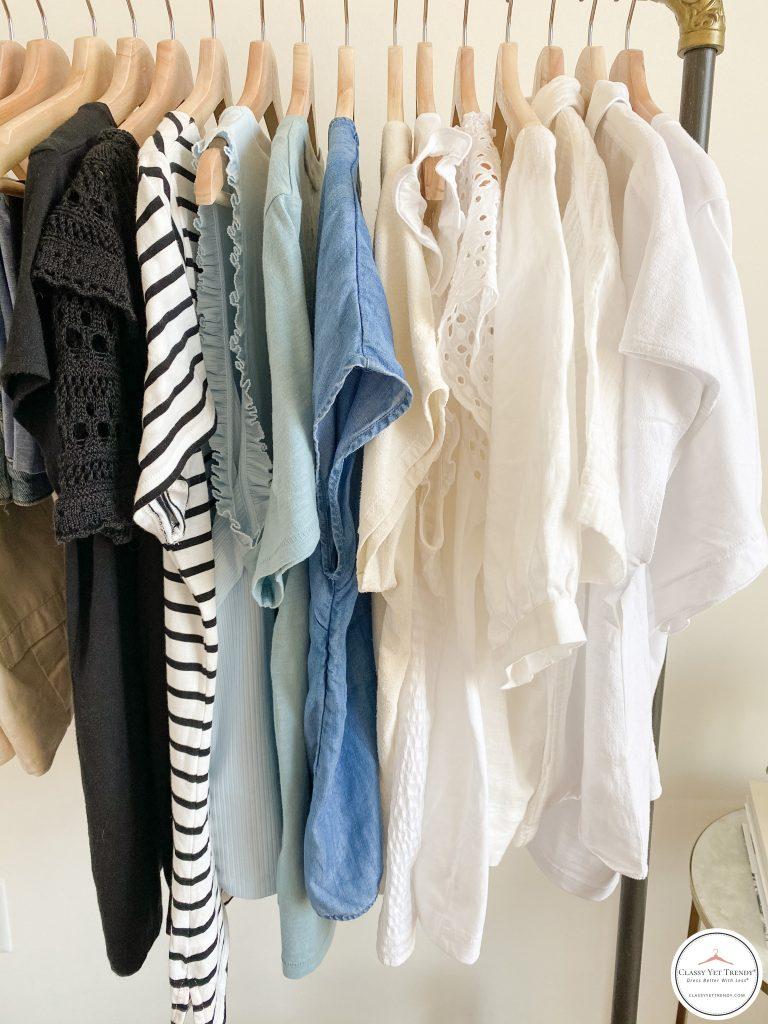 My Summer 2021 Capsule Wardrobe - tops clothes rack