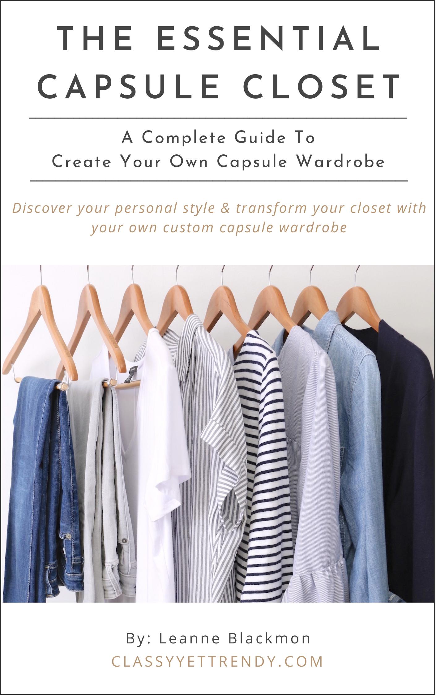The Essential Capsule Closet cover - REVISED Spring 2021