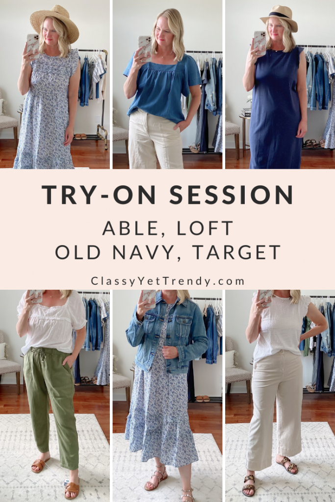 Try-On Session Review April 2021 ABLE Loft Old Navy Target