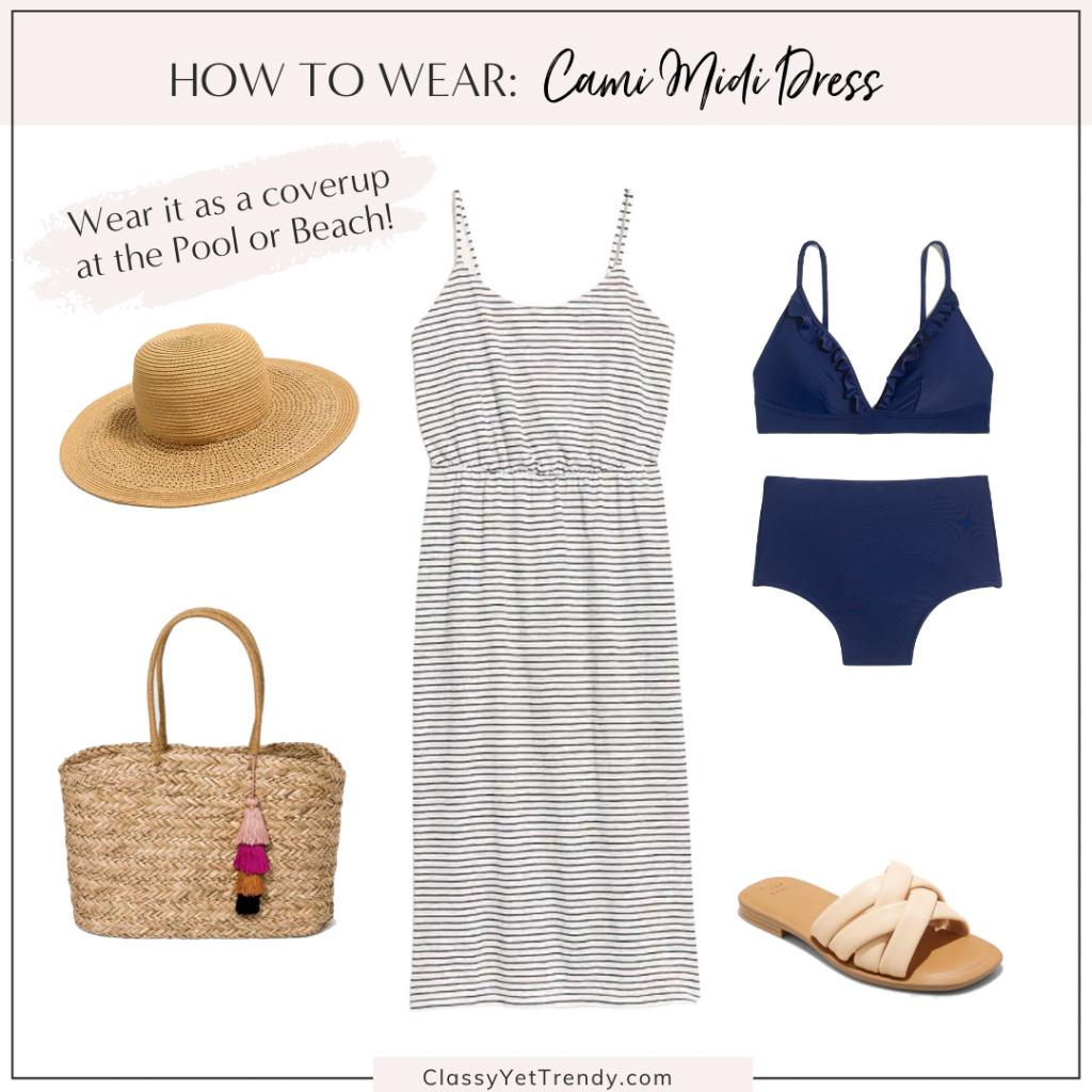 Classy Yet Trendy Outfit Idea Cami Midi Dress