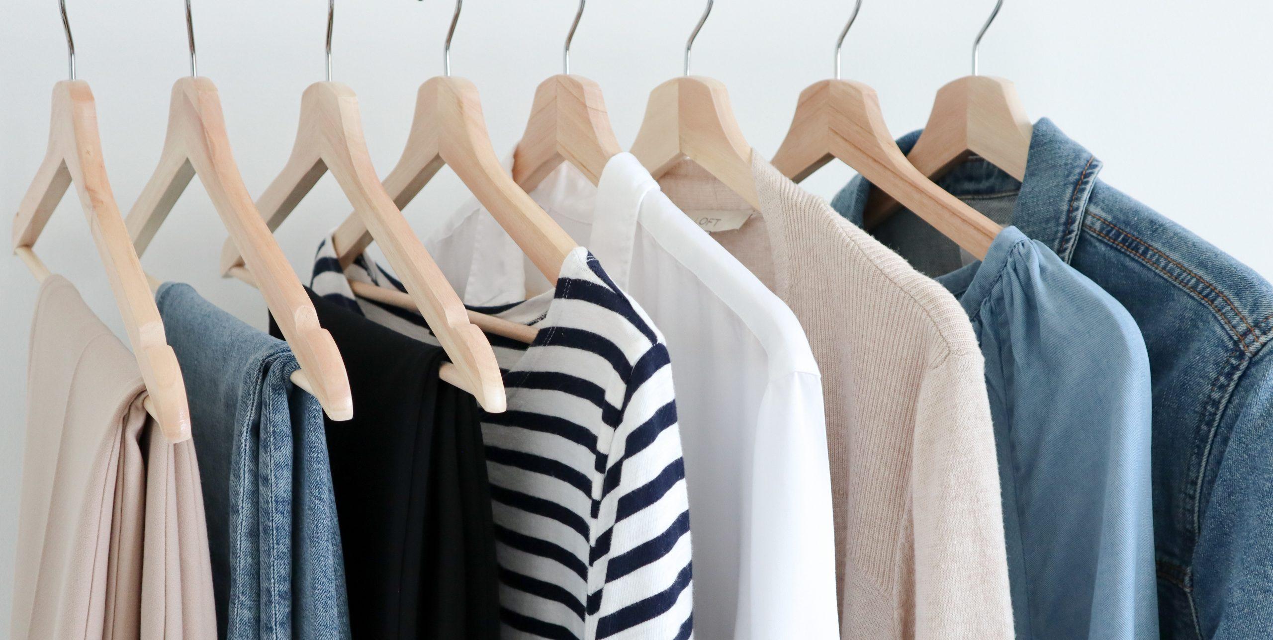 Classy Yet Trendy cover neutral basics clothes rack