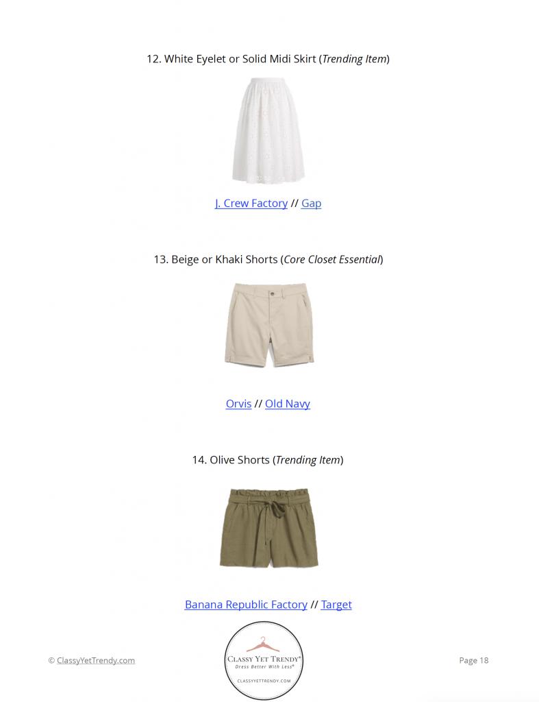 Essential Capsule Wardrobe Summer 2021 - pg 18