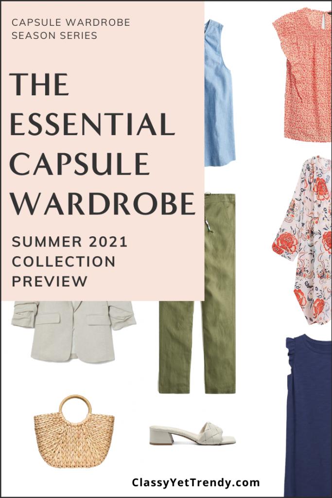 Essential Summer 2021 Capsule Wardrobe Sneak Peek