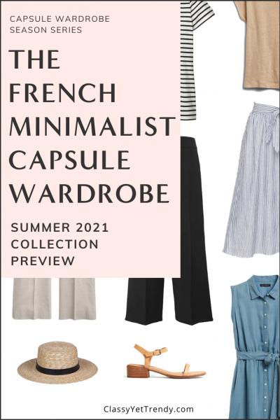 French Minimalist Capsule Wardrobe Summer 2021 Pin