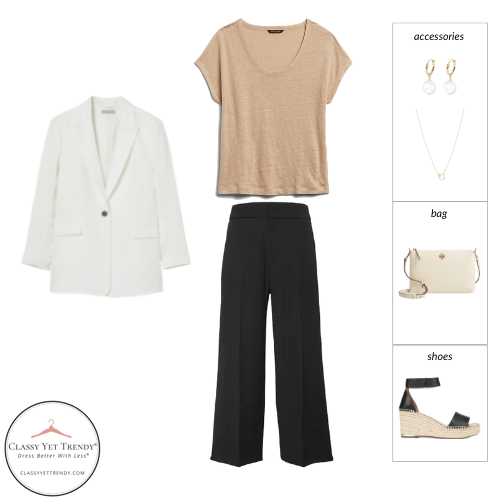 French Minimalist Capsule Wardrobe Summer 2021 - outfit 21