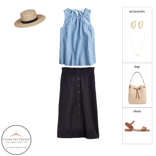 French Minimalist Capsule Wardrobe Summer 2021 - outfit 52