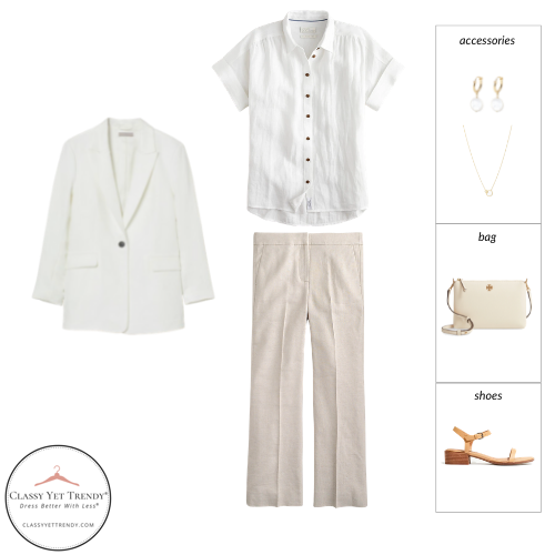 French Minimalist Capsule Wardrobe Summer 2021 - outfit 62
