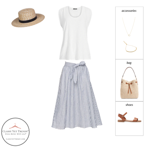 French Minimalist Capsule Wardrobe Summer 2021 - outfit 7