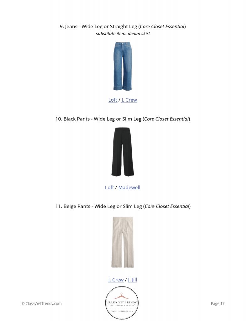 French Minimalist Capsule Wardrobe Summer 2021 - pg 17