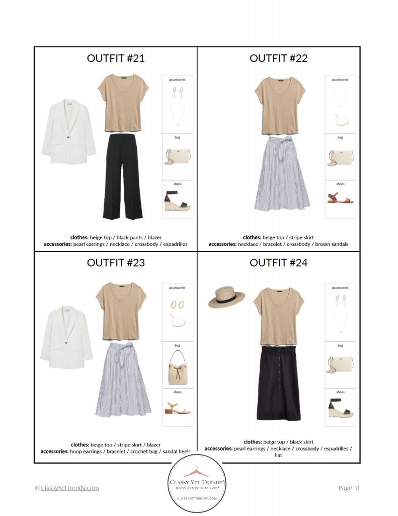 French Minimalist Capsule Wardrobe Summer 2021 - pg 31