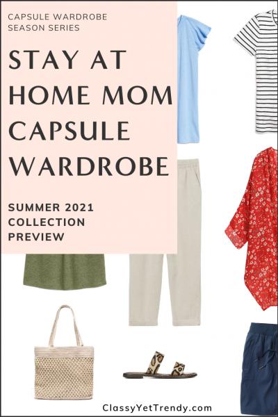 Stay At Home Mom Capsule Wardrobe Summer 2021 Pin