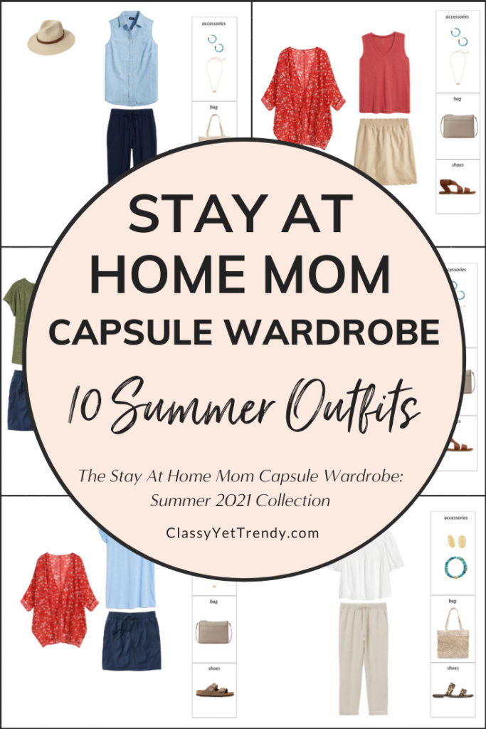 Stay At Home Mom Capsule Wardrobe Summer 2021 Preview - 10 Outfits