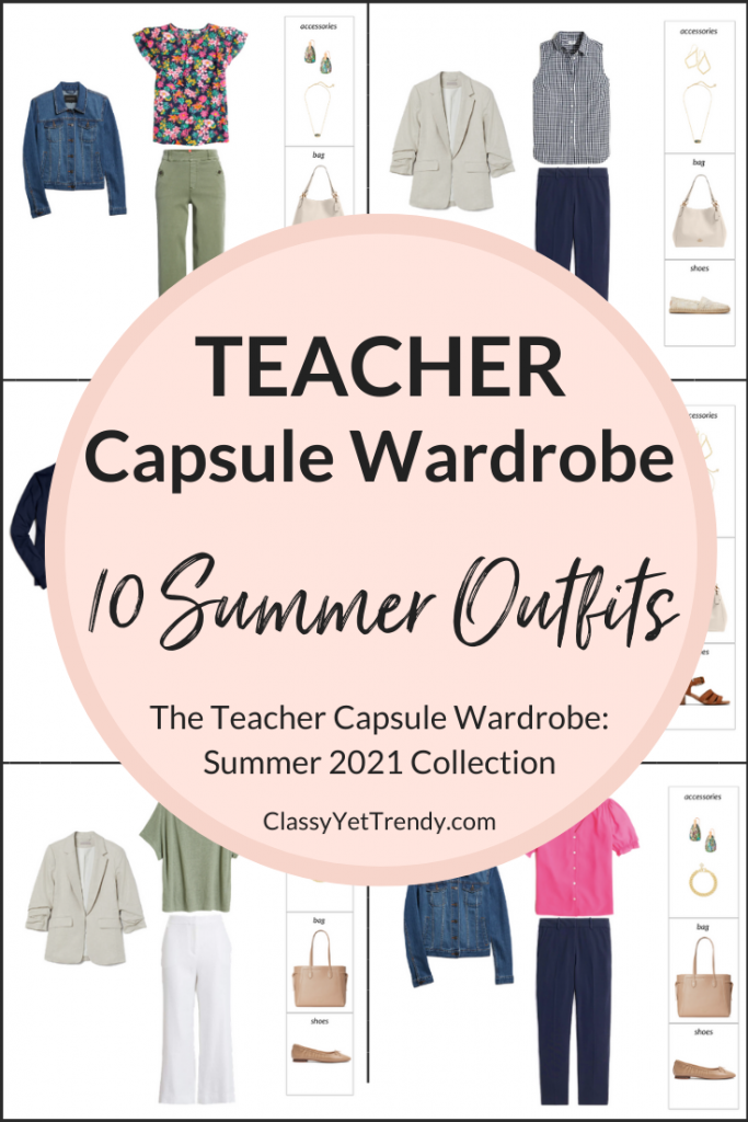 Teacher Capsule Wardrobe - Summer 2021 Outfits Preview