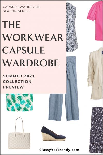 Workwear Capsule Wardrobe Summer 2021 Preview Pin1