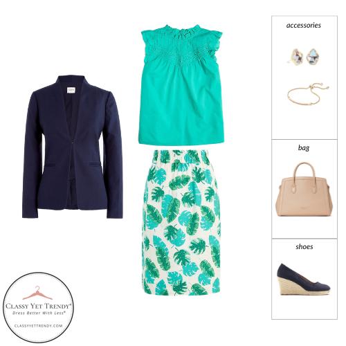Workwear Capsule Wardrobe Summer 2021 - outfit 1