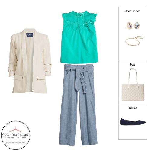 Workwear Capsule Wardrobe Summer 2021 - outfit 13