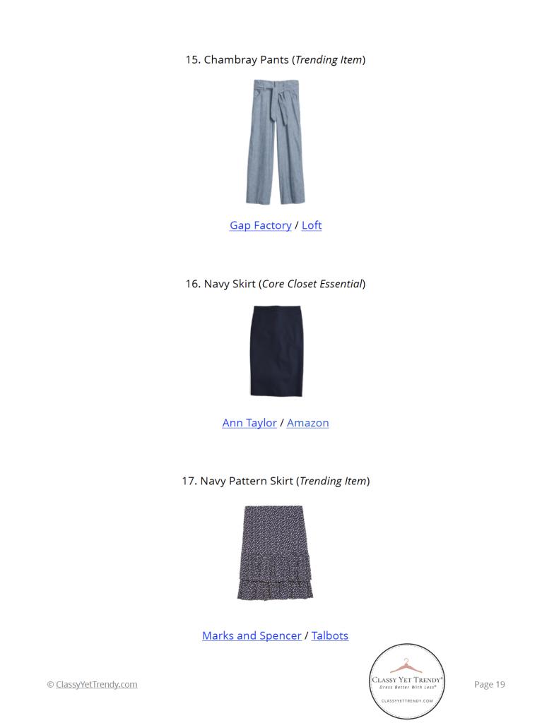 Workwear Capsule Wardrobe Summer 2021 - pg 19