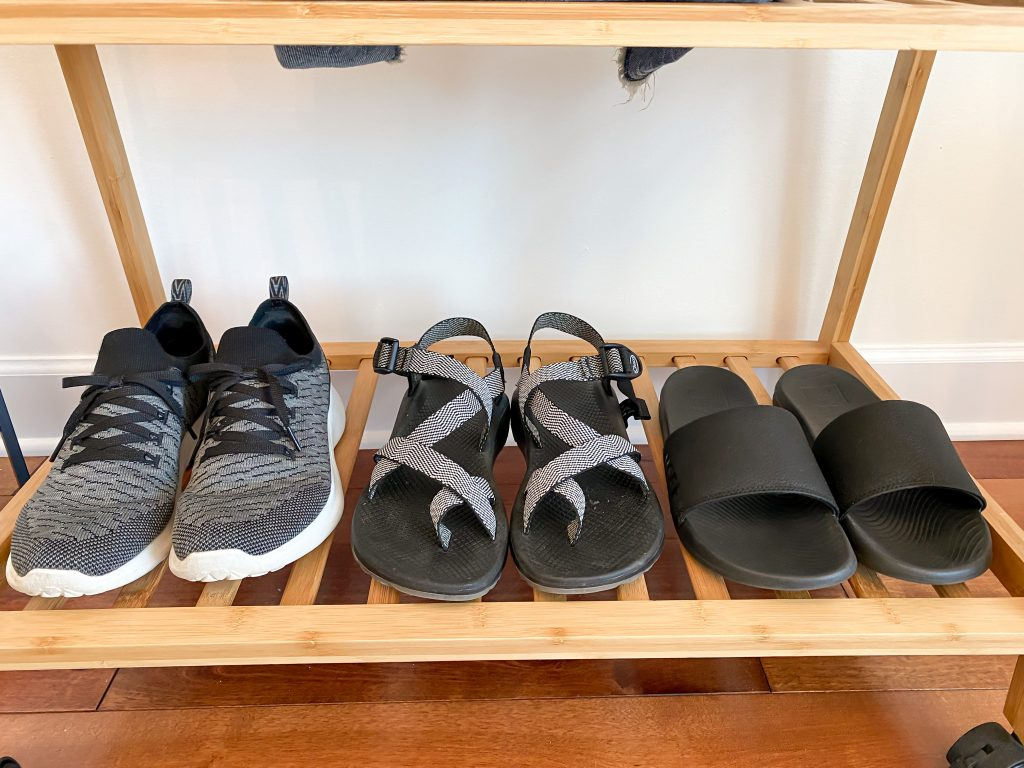 2021 17-Piece Outdoors Camping RV Capsule Wardrobe - shoes
