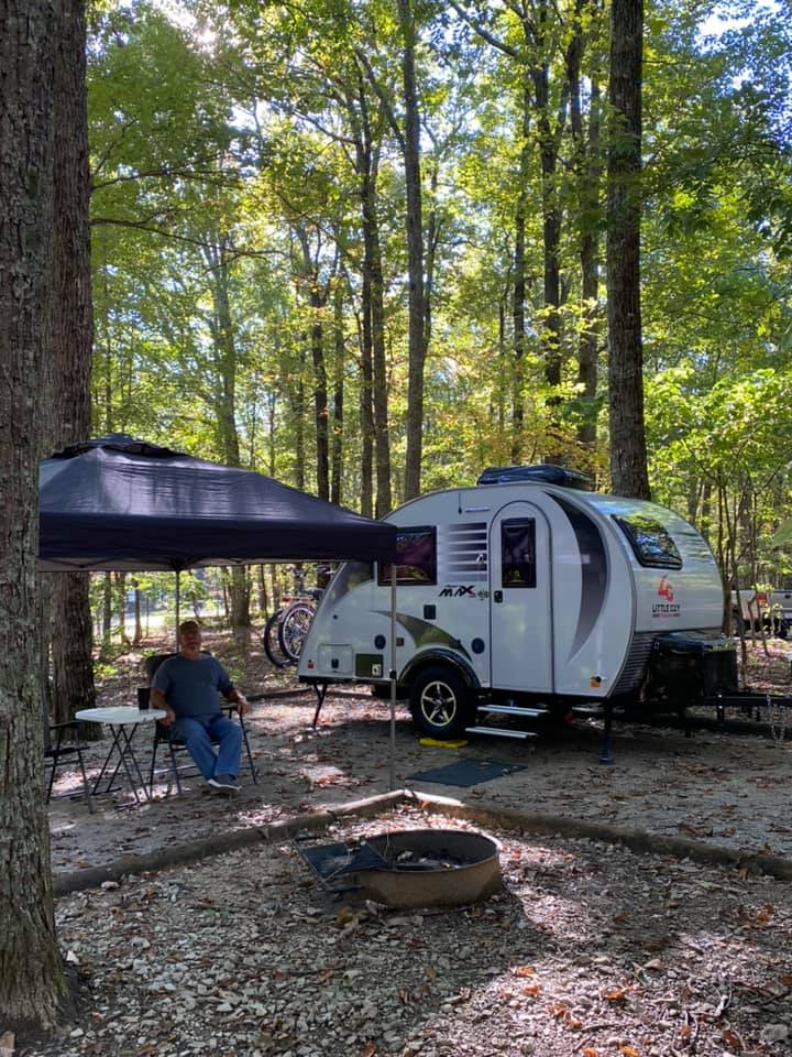 Camping Teardrop Camper and Danny Monte Santo State Park