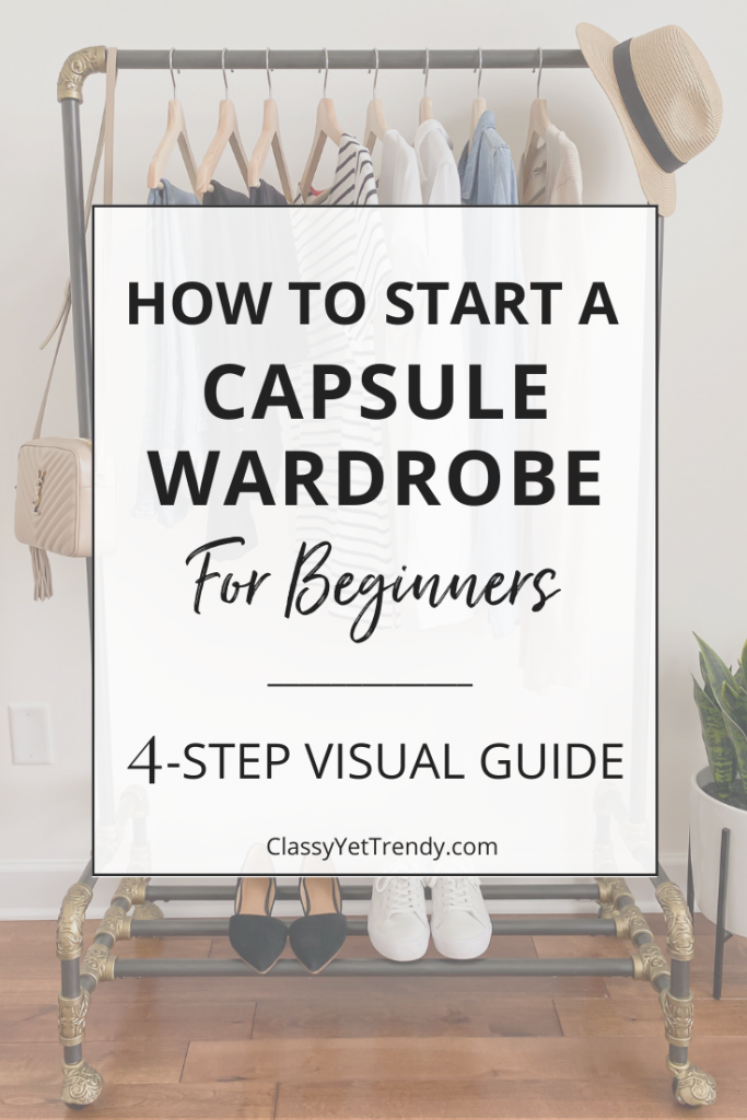 How To Start a Capsule Wardrobe For Beginners - 4 Step Easy Visual Guide dark