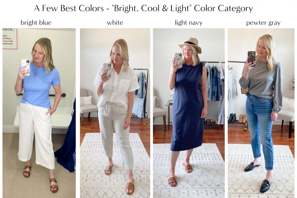 Color Analysis - Bright Cool Light BEST colors