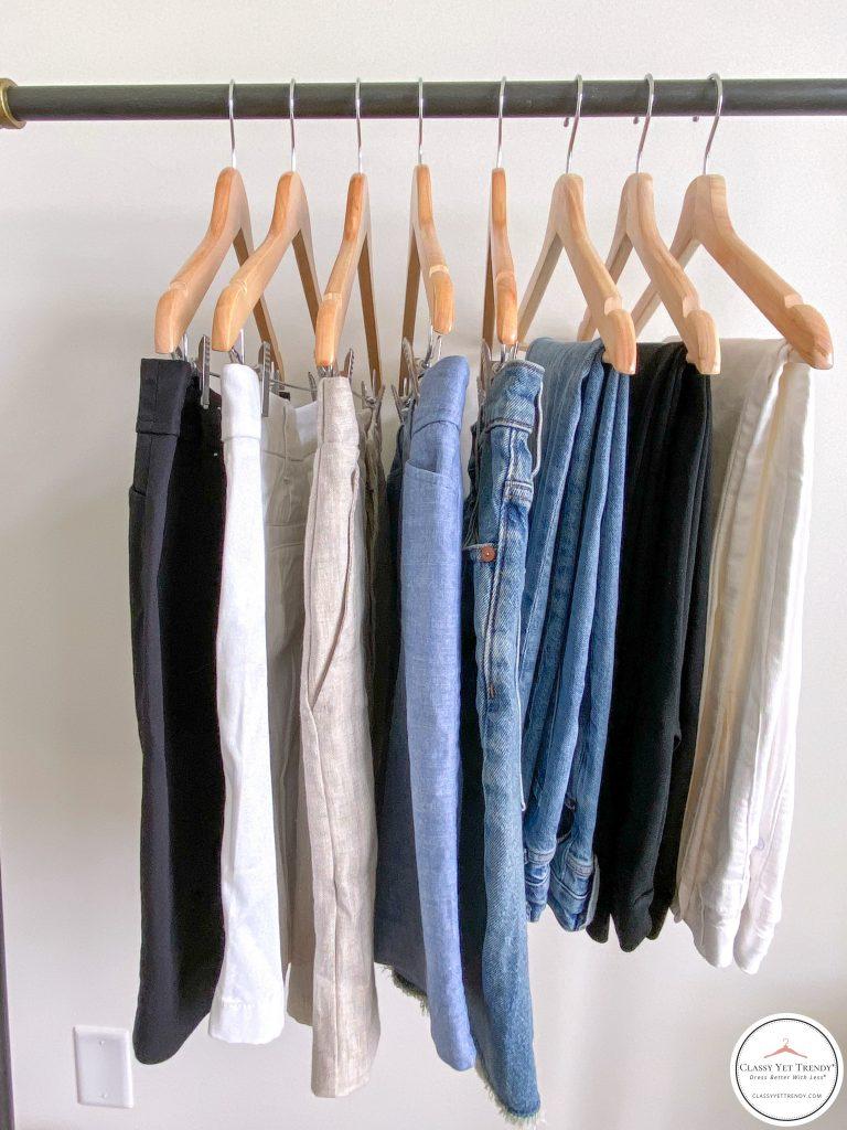 My 25 Piece Summer 2021 Neutral Capsule Wardrobe - bottoms