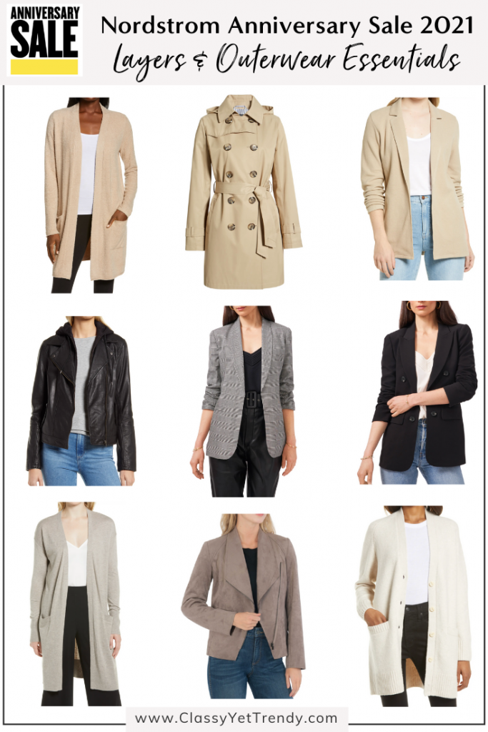 Nordstrom Anniversary Sale 2021 Capsule Wardrobe Essentials - Layers and Outerwear