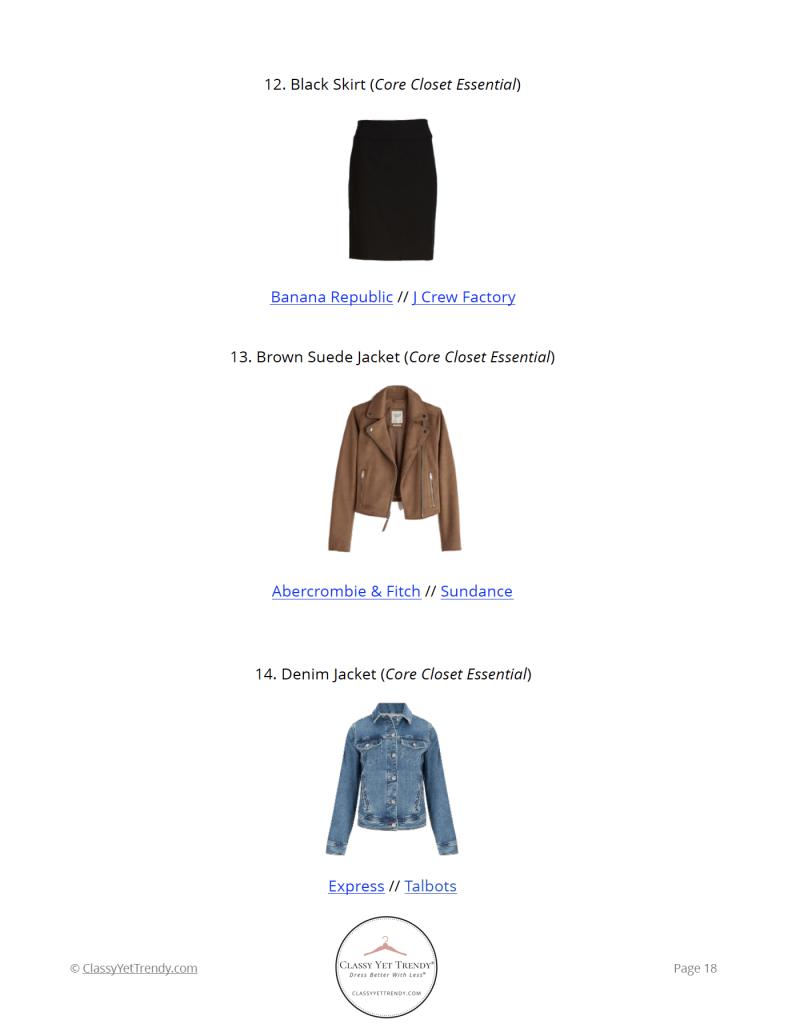 Essential Capsule Wardrobe Fall 2021 - pg 18