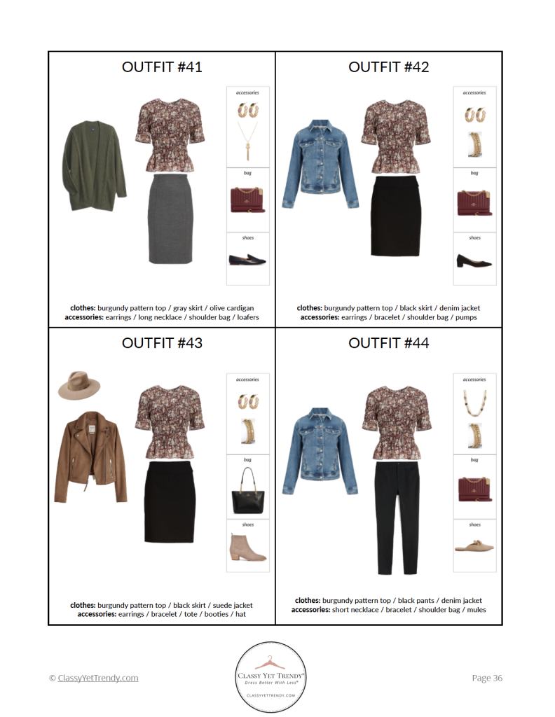 Essential Capsule Wardrobe Fall 2021 - pg 36
