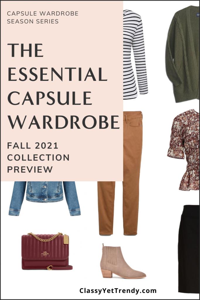 Essential Fall 2021 Capsule Wardrobe Sneak Peek