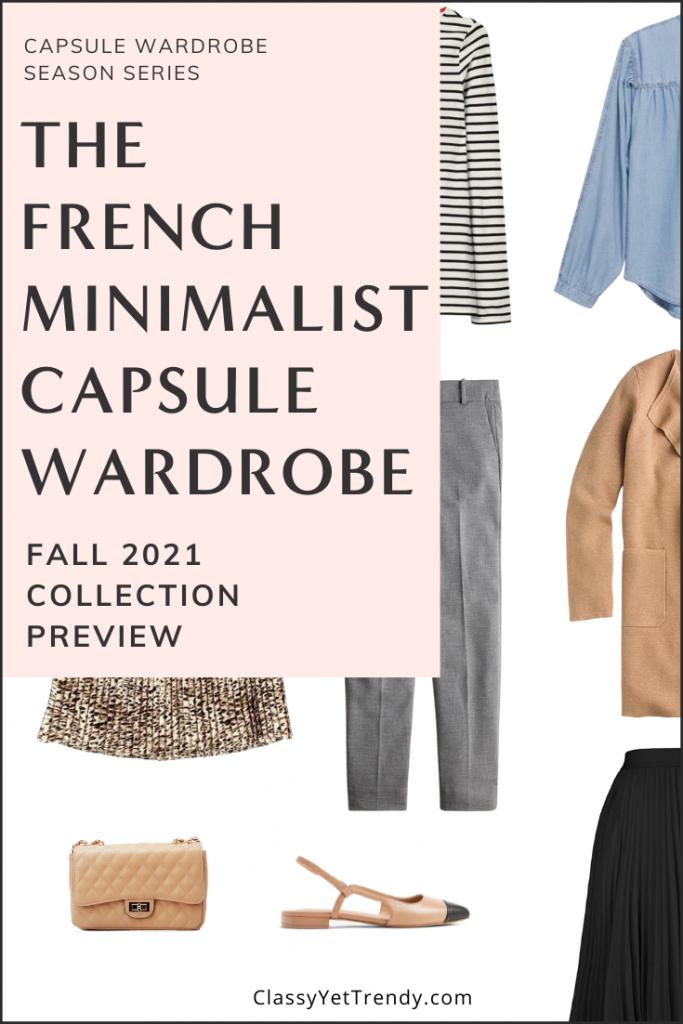 French Minimalist Capsule Wardrobe Fall 2021 Pin