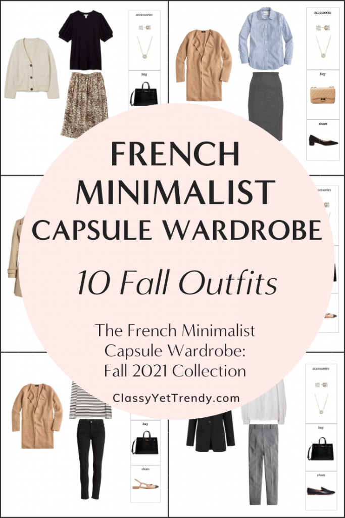 French Minimalist Capsule Wardrobe Fall 2021 Preview + 10 Outfits
