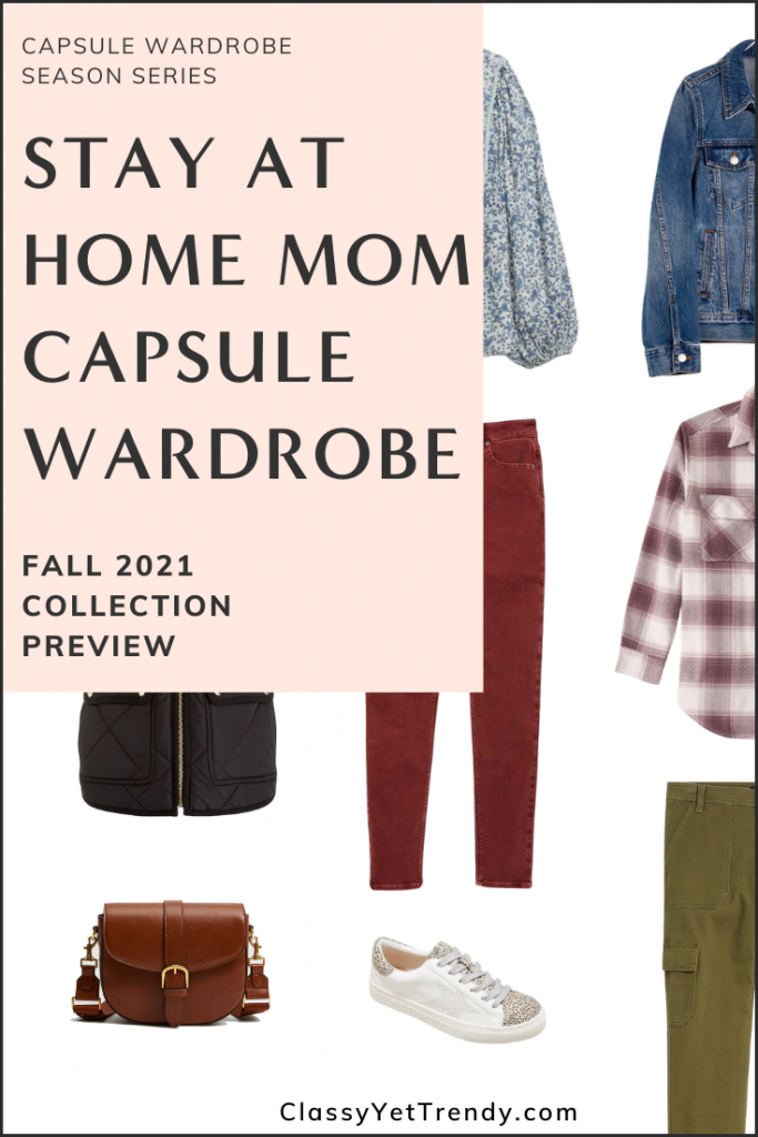 Stay At Home Mom Capsule Wardrobe Fall 2021 Pin