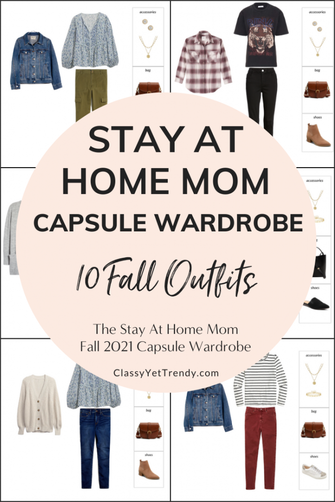 Stay At Home Mom Capsule Wardrobe Fall 2021 Preview - 10 Outfits