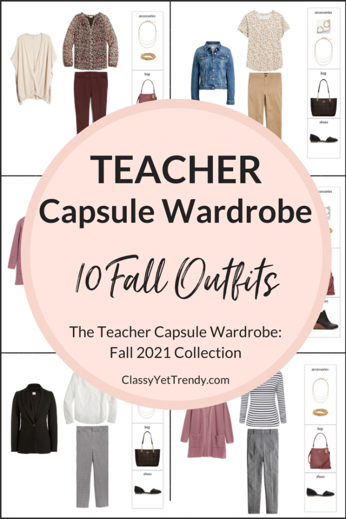 Teacher Capsule Wardrobe - Fall 2021 Outfits Preview